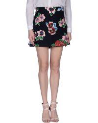 Clements Ribeiro - Chita Floral-Print Pleated Cotton-Blend Mini Skirt - Lyst