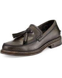 John Varvatos Tassel Leather Loafer - Lyst