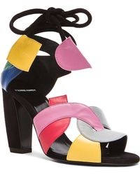 Pierre Hardy Atelier Tricolor Leather Heels - Lyst