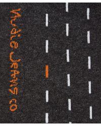 Nudie Jeans - Grey Sashiko Socks - Lyst