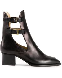 Maiyet Cut Out Booties - Lyst