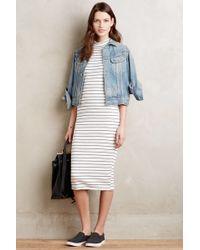 Dolan - Jules Striped Midi Dress - Lyst