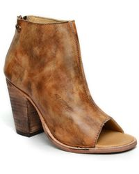 Bed Stu Onset Peep Toe Bootie - Lyst