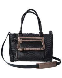 Cashhimi Virginia Python Handbag - Lyst
