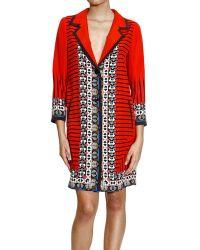 Etro Coat Silk Print - Lyst