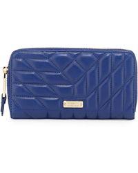 Badgley Mischka - Clara Quilted Leather Wallet - Lyst