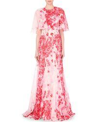 Giambattista Valli Kimono Top Georgette Silk Gown - Lyst