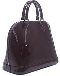 Louis Vuitton Pre-owned Prune Epi Electric Alma Pm Bag - Lyst