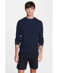 A.P.C. Cotton Pique Tennis Sweatshirt - Lyst