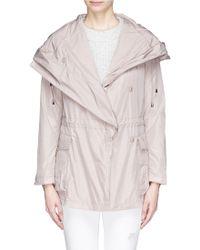 Armani Expandable Zip Back Hooded Raincoat - Lyst