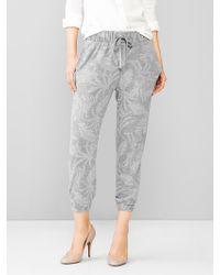 Gap Printed Crop Jogger Pants - Lyst