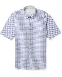 Jil Sander Eloise Check Cotton Seersucker Shirt - Lyst