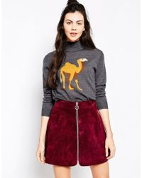 Emma Cook | Cropped Rollneck Camel Sweater | Lyst