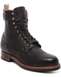 Rag & Bone Black Officer Boot - Lyst