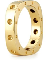 Roberto Coin Mens 18k Yellow Gold Pois Moi Single Row Square Band Ring - Lyst