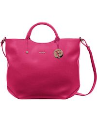 Furla Alissa Leather North South Tote Bag - Lyst