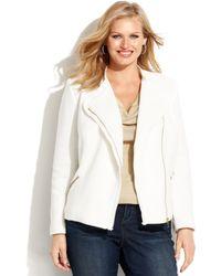 Inc International Concepts Plus Size Cotton Moto Jacket - Lyst