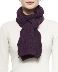 Brora - Cashmere Lace-Knit Scarf - Lyst