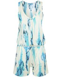 Matthew Williamson Tie Dye Playsuit - Lyst
