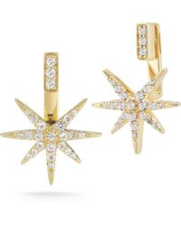 Elizabeth And James Astral Earrings with Star Jacket - Lyst