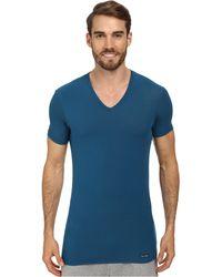 Calvin Klein Body Micro Modal Ss V-neck - Lyst