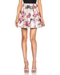Haute Hippie Printed Flirty Skirt - Lyst