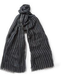 Dolce & Gabbana Striped Scarf - Lyst