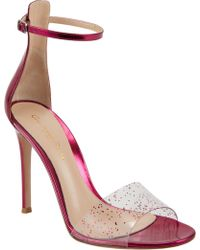Gianvito Rossi Highback Anklestrap Sandals - Lyst