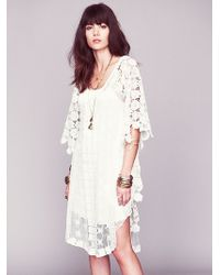 Free People Nicole'S White Story Limited Edition Dress - Lyst