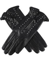 Black.co.uk Swarovski Embellished Black Italian Leather Gloves - Lyst
