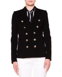 Emilio Pucci Double-Breasted Golden Button Jacket - Lyst