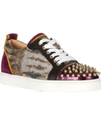 Christian Louboutin Louis Junior Spikes Sneakers - Lyst