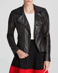 Karen Millen Iconic Leather Jacket  Bloomingdales Exclusive - Lyst