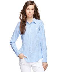 Brooks Brothers Cotton Stripe Shirt - Lyst