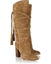 Michael Kors Jessa Suede Knee Boots - Lyst