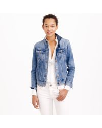 J.Crew Denim Jacket In Tyler Wash - Lyst