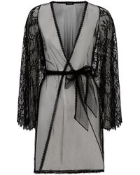 Myla - Compelling Lace Short Robe - Lyst