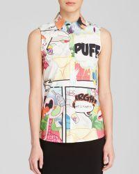 Moschino Cheap & Chic Shirt - Comic Print Button Down - Lyst