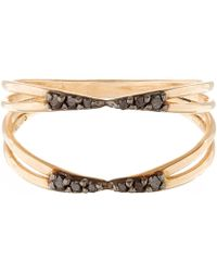 Kismet by Milka - Rose Gold And Black Diamond Ring - Lyst