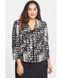 Ellen Tracy Print Double Crepe Jacket - Lyst