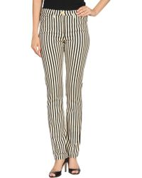 Versace Casual Pants black - Lyst