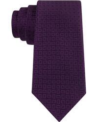 Michael Kors Michael Bickory Neat Slim Tie - Lyst