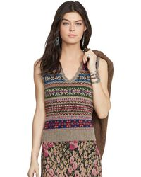 Polo Ralph Lauren Fair Isle Wool Vest - Multicolor