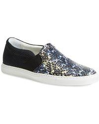 Lanvin Slip-On Skate Sneaker blue - Lyst