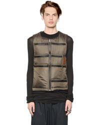 Letasca Reversible Multi Pocket Nylon Vest - Natural