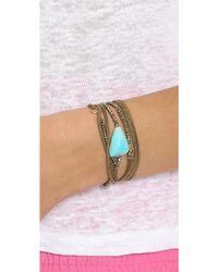 Pascale Monvoisin - Fiona Wrap Bracelet - Turquoise/Brown - Lyst