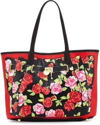 Betsey Johnson Roses-print Illusion Tote Bag - Lyst