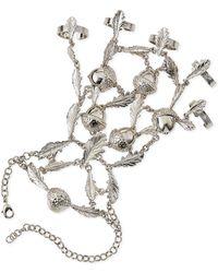 Alexander McQueen Ivy  Acorn Hand Chain - Silver One Size - Lyst