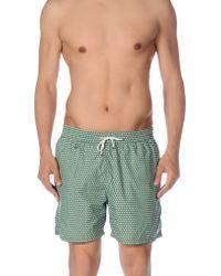 Ferragamo Arrow-Print Quick-Dry Swim Shorts - Green