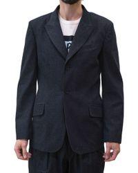 Yohji Yamamoto | Indigo Cotton Denim Jacket | Lyst
